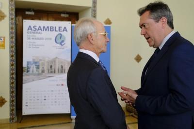SEVILLA 26/03/2019 El alcalde de Sevilla, Juan Espadas, asiste a la asamblea general del Círculo de Empresarios de Cartuja.  FOTO: Pepo Herrera/Ayuntamiento de Sevilla